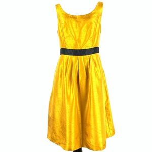 The limited woman's dress sz 4 gold pleated party